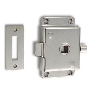 Oplegslot wc Messing chroom Links/Rechts toepasbaar   incl.sluitplaat