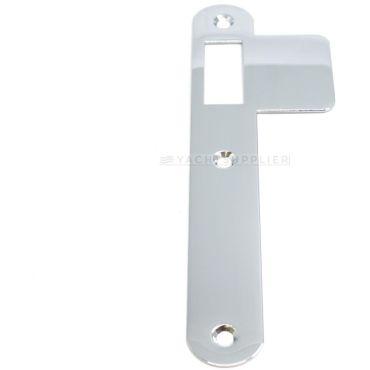 Sluitplaat 180x25x1,5 mm Loop Din Ls per stuk Messing gepolijst chroom small