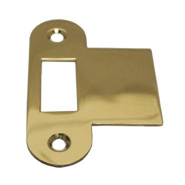 Sluitplaat 86x25x1,5 mm loop Ls/Rs per stuk Messing gepolijst chroom small