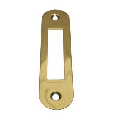 Sluitplaat 110x25x1,5 mm loop Ls/Rs per stuk Messing gepolijst chroom small