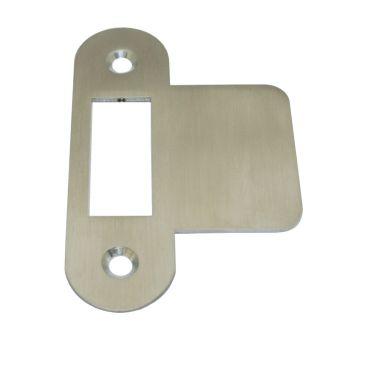 Sluitplaat 86x25x1,5 mm loop Ls/Rs per stuk Rvs mat small