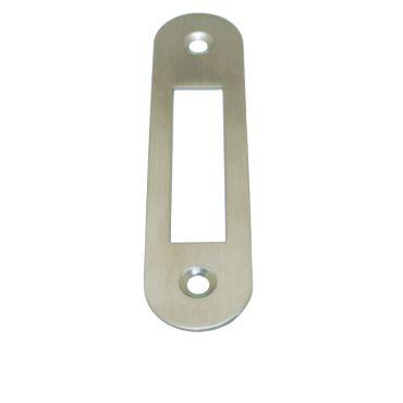 Sluitplaat 110x25x1,5 mm loop Ls/Rs per stuk Rvs gepolijst small