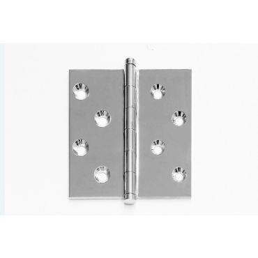Scharnier rechte hoek 80x80mm losse pen dubbele knop Messing Matchroom small