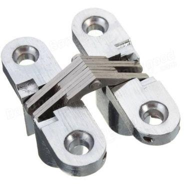 Onzichtbaarscharnier Nikkel geborsteld 12,4x60,4mm small