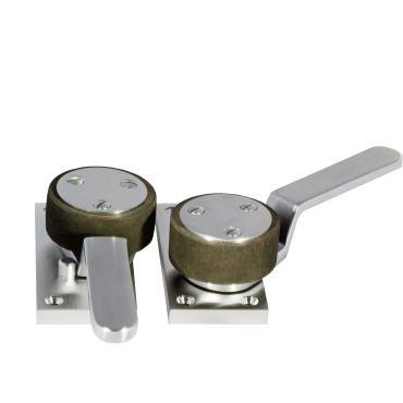 Schuifdeur fixatie-set Links bakboord Messing mat chroom small