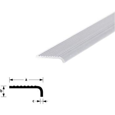 Trapkant profiel 30x6x2mm Lengte 5meter