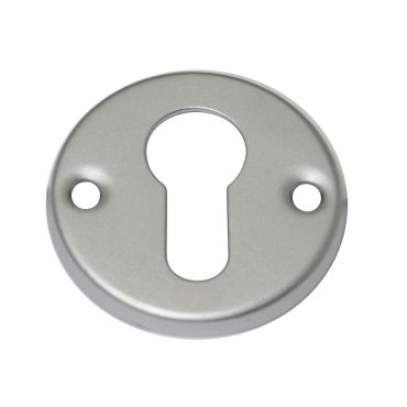 Rozet profiel cilinder opschroef 51mm rond per stuk Messing gepolijst chroom small