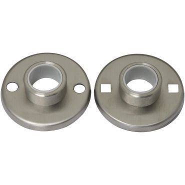 Rozetten Deurkruk 51mm rond tbv en incl. patentbouten, per paar Rvs mat small