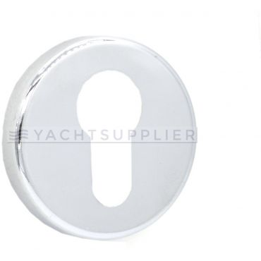 Pc rozet rond Ø51mm Messing gepolijst chroom small