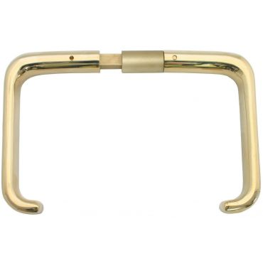 Deurkrukken oplegslot, krukstift 9mm, deurdikte 32-43mm Messing gepolijst small