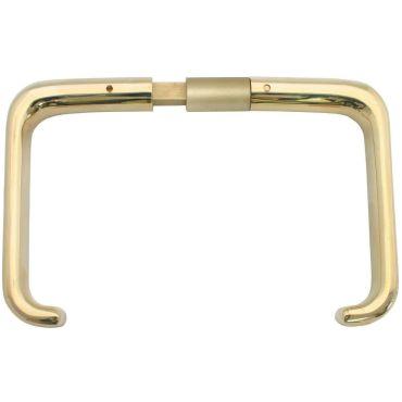 Deurkrukken oplegslot, krukstift 9mm, deurdikte 62-71mm Messing mat chroom small