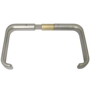 Deurkrukken oplegslot, krukstift 9mm, deurdikte 32-43mm Rvs mat small
