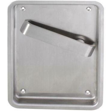 Deurkruk op schild tbv Loop slot Flush, krukstift 9mm Rs per stuk Rvs geborsteld small
