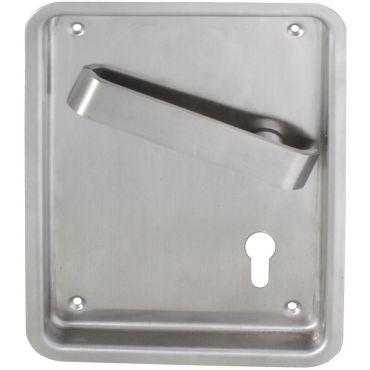 Deurkruk op schild tbv Pc slot Flush, krukstift 9mm Ls per stuk Rvs geborsteld small