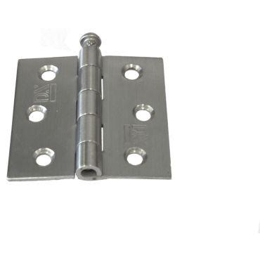 Scharnier 63x63mm Rechte hoek RVS losse pen small