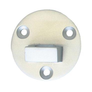 Losse tegenplaat voor deurvastzetter met valhaak 60mm Rvs mat small