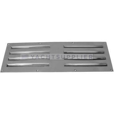 Tegenplaat tbv schuif ventilatierooster 360x120mm  Messing gepolijst chroom small