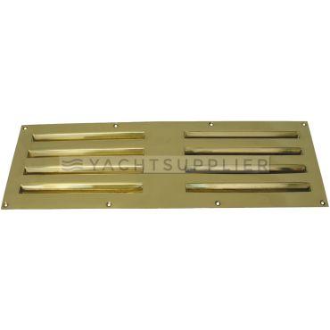 Tegenplaat tbv schuif ventilatierooster 360x120mm  Messing gepolijst small