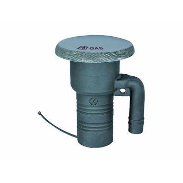 Dek-dop Water A Ø38mm C Ø79,5mm B 93mm Rvs 316 small