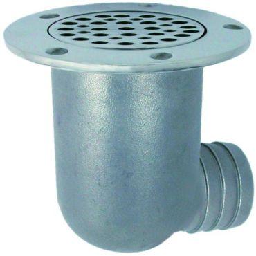 Water afvoer Scupper met terugslag Bal slang aansluiting A Ø38mm B Ø73mm Rvs 316 small