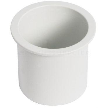 Bekerhouder Wit kunststof inbouw Boormaat : 68mm Hoogte : 75mm