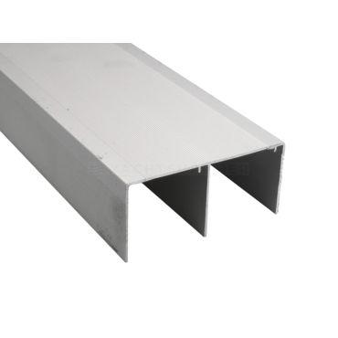Schuifdeur bovenrail dubbel 5 meter Aluminium