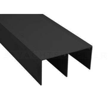 Schuifdeur bovenrail dubbel 4.9 meter Aluminium Zwart