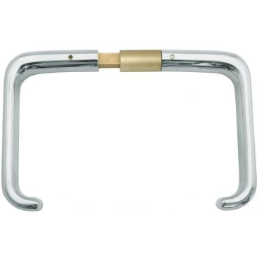 Deurkrukken oplegslot, krukstift 9mm, deurdikte 32-43mm Messing mat chroom small