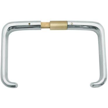 Deurkrukken oplegslot, krukstift 9mm, deurdikte 62-71mm Messing gepolijst chroom small