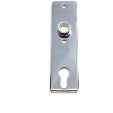 Deurschilden 165x45mm pc h.o.h 75mm per stuk met Messing cilinder-afdekkap Messing gepolijst small