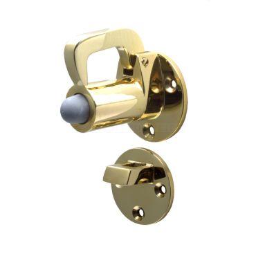 Deurvastzetter met valhaak - 72mm - Messing - 251201.4 small