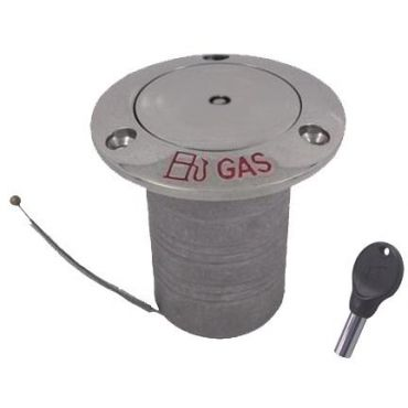 Dek-dop Pop-up met slot Gas A Ø38mm D Ø76mm B 76mm Rvs 316 small