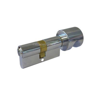 Knopcilinder K30/30mm Messing Verchroomd Zeewaterbestendig met versmalde meenemer small