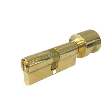 Knopcilinder K30/30mm Messing gepolijst met versmalde meenemer small
