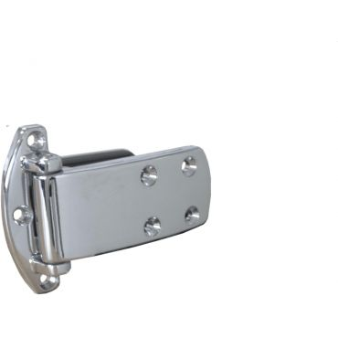 Koelkastscharnier 100x40mm 20mm opleg verchrooms small