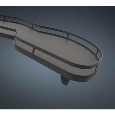 Le Mans Arena style Antraciet 600mm set Rechtsdraaiend Hoogte : 650 tot 800mm small