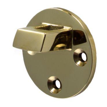 Losse tegenplaat voor deurvastzetter met valhaak 60mm Messing gepolijst small