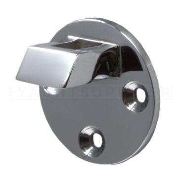 Losse tegenplaat voor deurvastzetter met valhaak 60mm Messing gepolijst chroom small