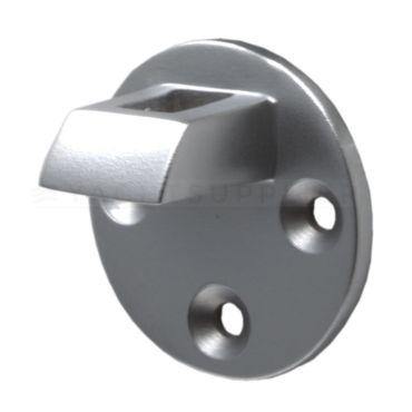 Losse tegenplaat voor deurvastzetter met valhaak 60mm Messing mat chroom small