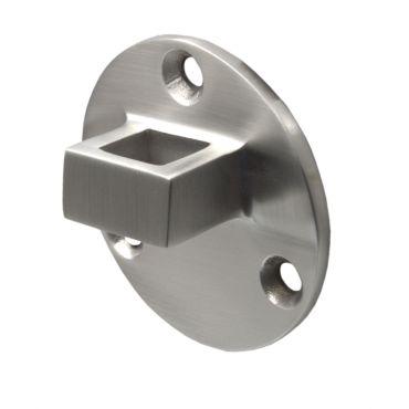 Losse tegenplaat voor deurvastzetter met valhaak 60mm Rvs geborsteld small