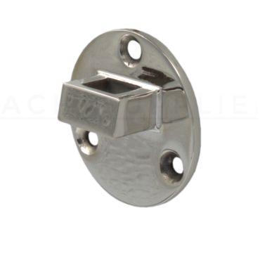 Losse tegenplaat voor deurvastzetter met valhaak 60mm Rvs gepolijst small