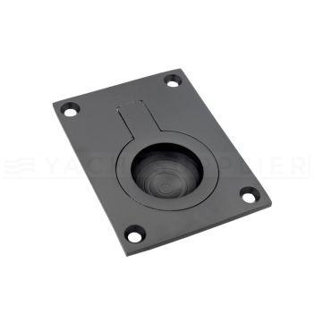 Luikring zwart rechthoekig 65x49 mm small