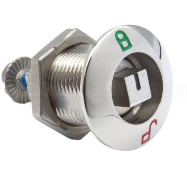 Luiksluiting Spanspindelslot Rvs316 L.32mm Vierkant 8mm aantrekking 6mm Luikdikte max. 22mm small
