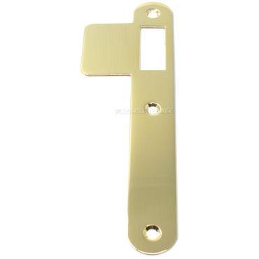 Sluitplaat 180x25x1,5 mm Loop Din Ls per stuk Messing gepolijst small