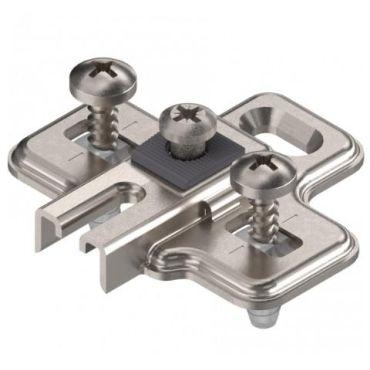 Kruismontageplaat 0mm voor Blum koelkastscharnier 194K6100 small