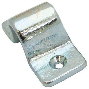 Sluitbeugel tbv pengrendel zwaar model, 16mm stiftdiameter Messing gepolijst chroom small