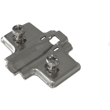Montageplaat Impro/Invo met voorgemonteerde Euroschroef 6,3x14mm met hoogte verstelling 9mm small