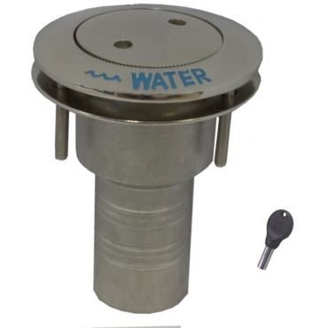 Dek-dop Pop-up met slot Water A Ø50mm D Ø84mm B 76mm Rvs 316 small