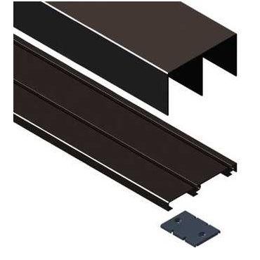 Schuifdeurrail set -  Boven & onderrail dubbel 2.95 meter Aluminium Zwart