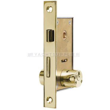 Insteekslot klein Pc met cilinder, cilinderlengte: 54mm Din Rs, incl. 2 sleutels Messing gepolijst small
